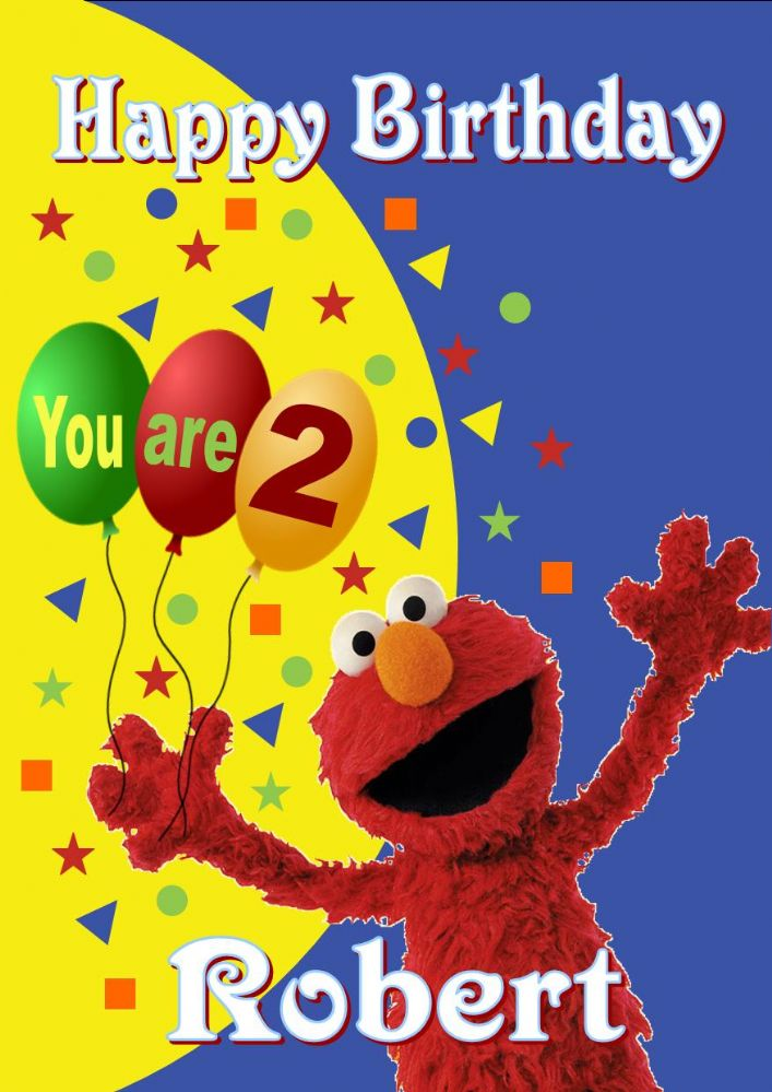 Personalised Elmo Birthday Card